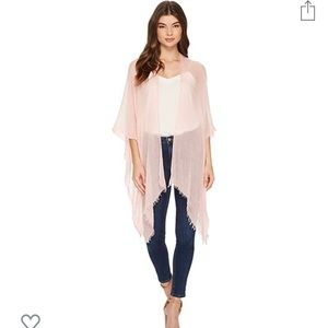 Pink Tissue weight Ruana Wrap